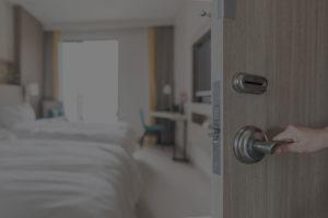 Door to Hotel Room